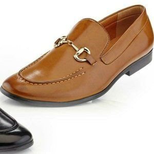 Henry Ferrera Classic Dress Loafers with Buckle